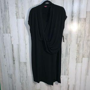 Vince Camuto drapy black dress